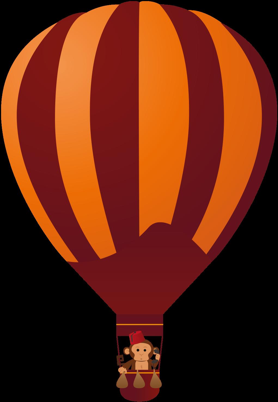 Maroon Balloon web monkey on the telephone