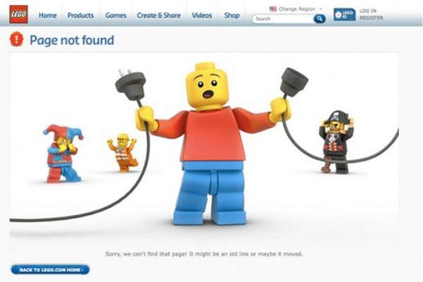 404 error page example Lego
