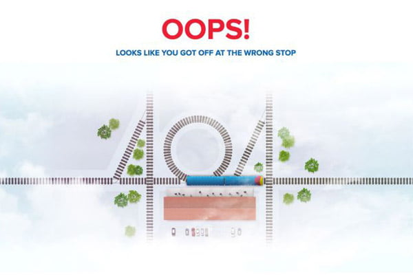 404 error page example South-west-trains