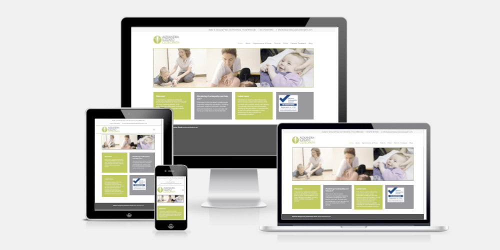 Alexandra Luzzato Osteopath website by Maroon Balloon