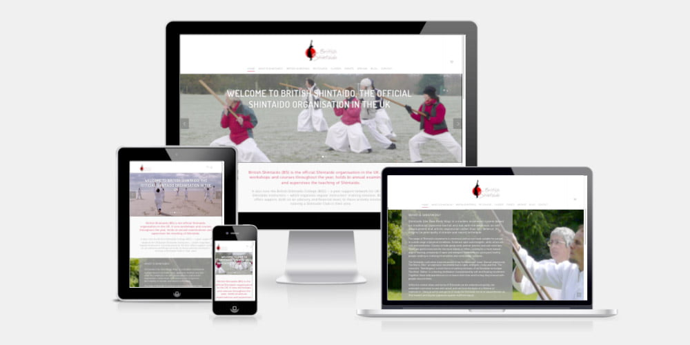 British Shintaido website by Maroon Balloon