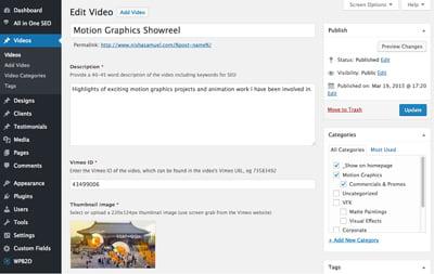 Nisha Samuel VFX WordPress customization by Maroon Balloon