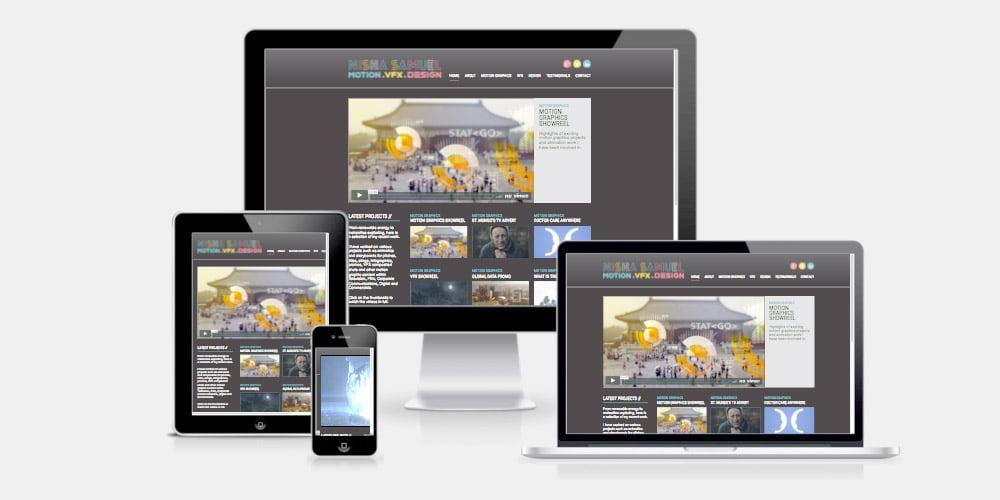 Nisha Samuel VFX website by Maroon Balloon