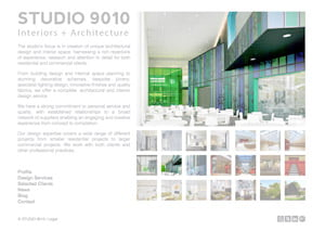 Studio 9010 website homepage by Maroon Balloon