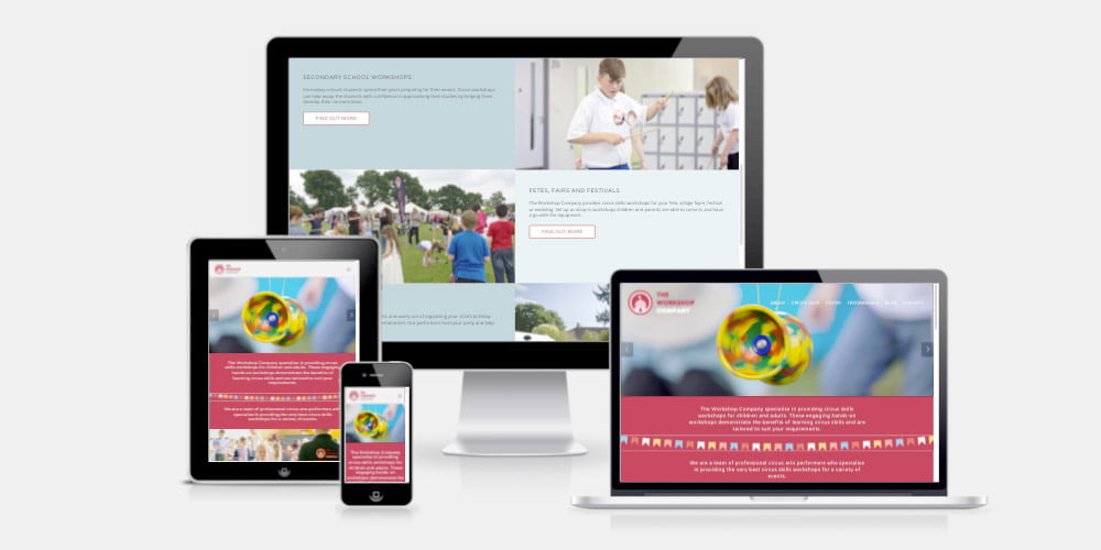 The Workshop Company website by Maroon Balloon
