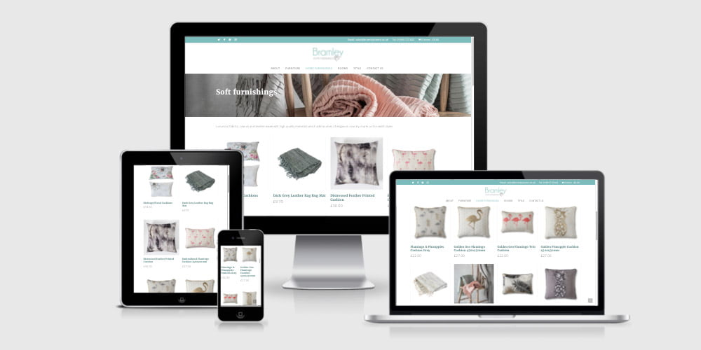 Bramley Home Furnishings responsive ecommerce website