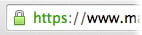 SSL security padlock on Chrome