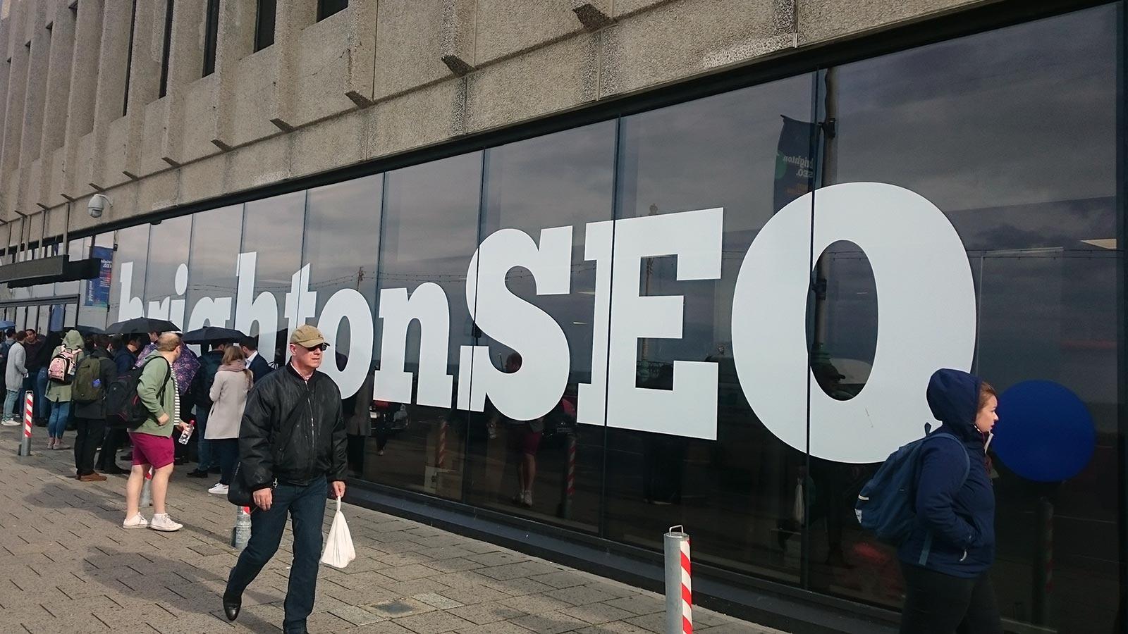 #brightonSEO conference branding