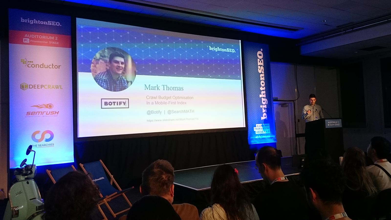 Botify Google mobile-first talk at #brightonSEO conference 2018