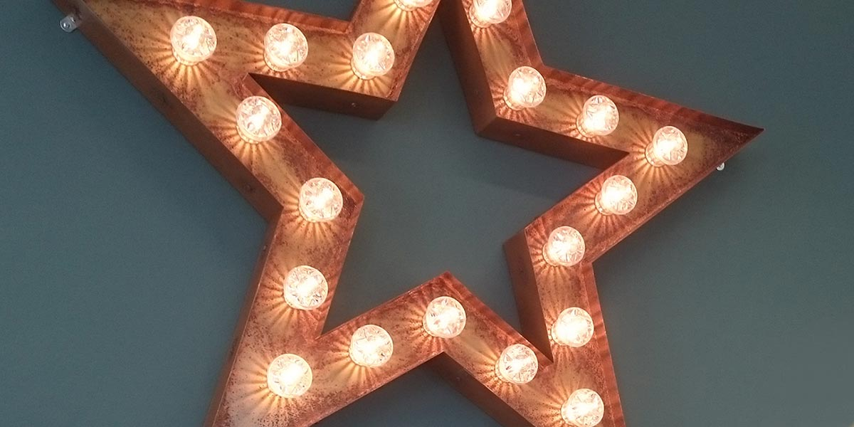 The fairground star at our new St John's House office, Chichester