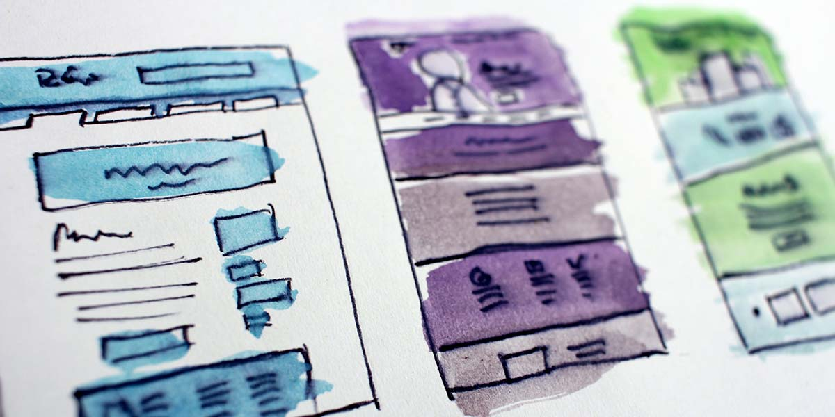 Website design wireframes